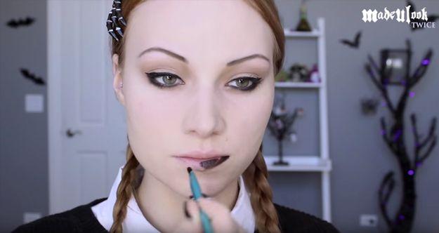 Step 7: Apply Lipstick | Wednesday Addams | Halloween Makeup Tutorial...