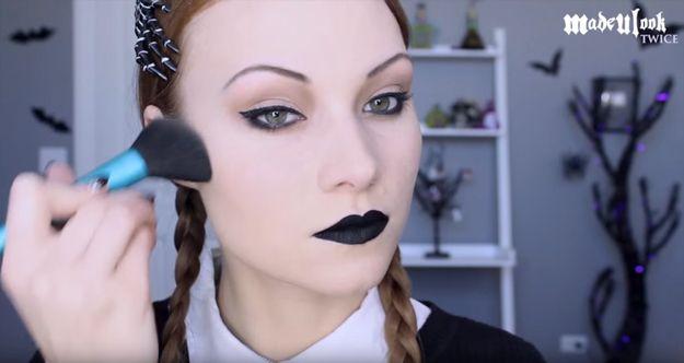 Step 8: Contour Your Face   Wednesday Addams   Halloween Makeup Tutorial...