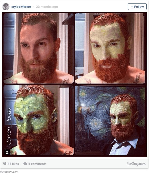Vincent Van Gogh - Cool Halloween Makeup | 25 Looks That Are Actually Easy, see ...