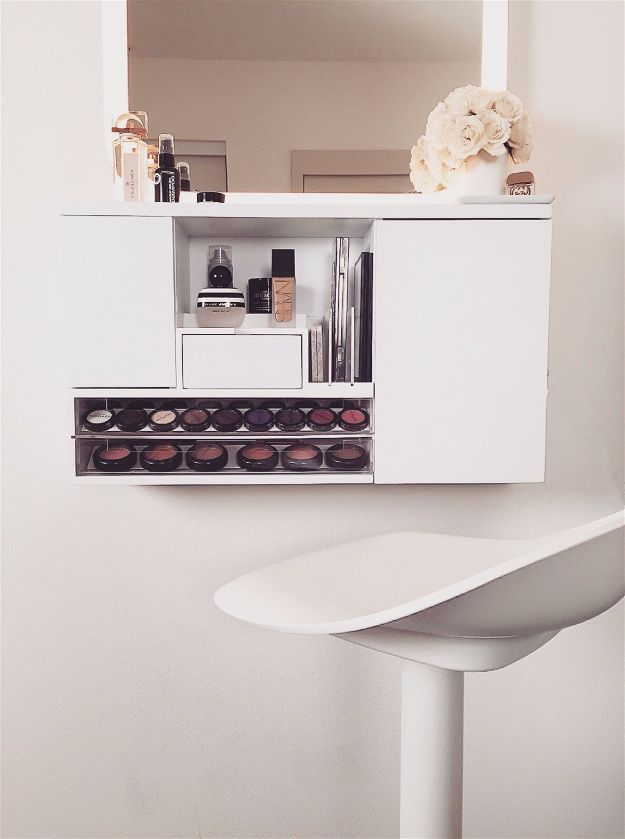 Wall Mount | Cool Makeup Organizers To Give Your Makeup A Proper Home...