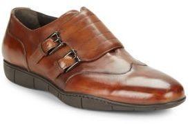 A. Testoni Double Monk Strap Shoes