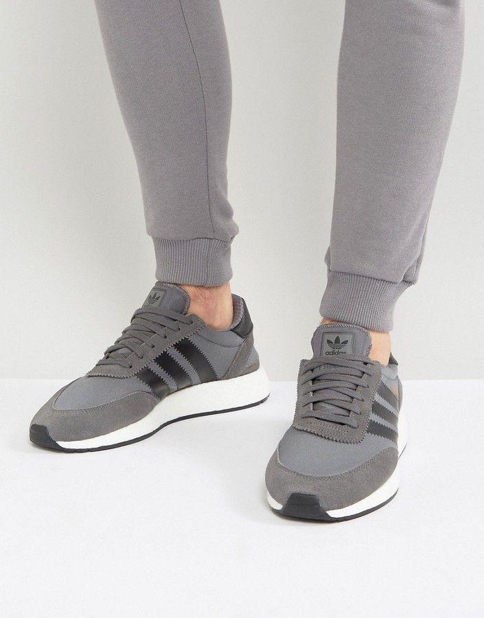 adidas Originals Iniki Runner Boost Sneakers In Gray BY9732...