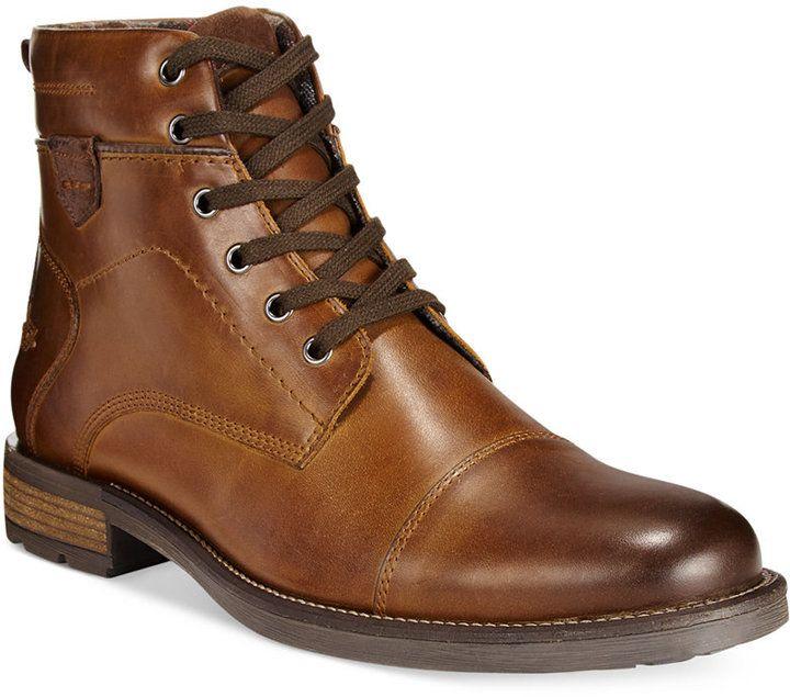 Alfani Jack Cap Toe Boots, Created for Macy's Men's Shoes...