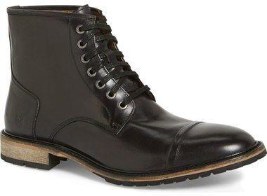Andrew Marc 'Norwood' Cap Toe Boot (Men)