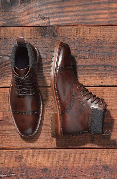 Free shipping and returns on J&M 1850 'Karnes' Cap Toe Boot (Men) at Nordstrom.c...