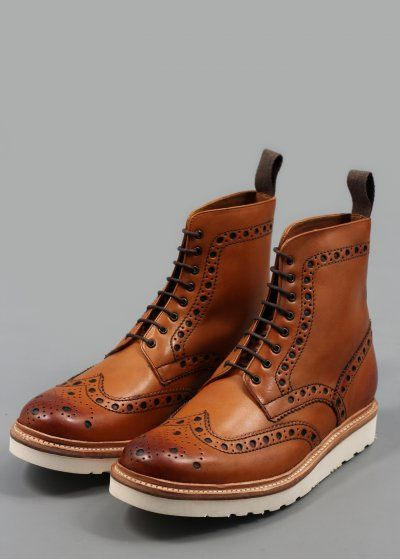 Grenson brogue boots - have them in black