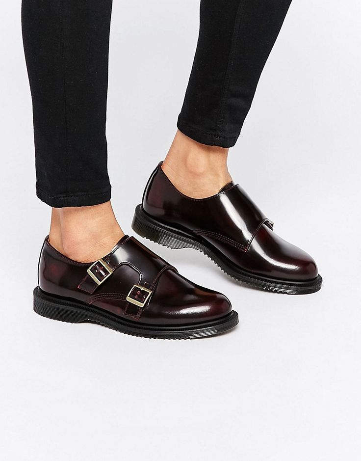Image 1 of Dr Martens Pandora Double Monk Stap Flat Shoes...