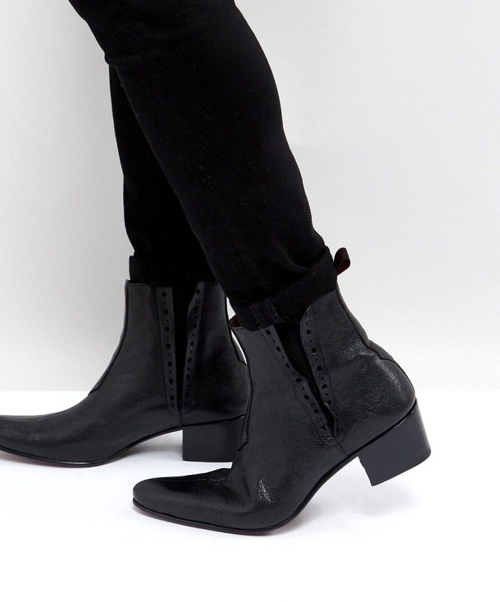 Jeffery West Murphy Chelsea Boots In Black Leather...