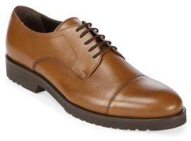 Leather Cap Toe Derby Shoes...