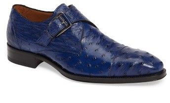 Men's Mezlan Cohen Ostrich Cap Toe Monk Shoe