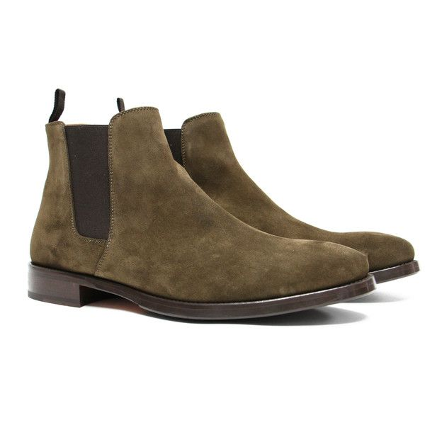 ORO's exclusive Olive Suede Chelsea Boots, are perfect for those who want a ...
