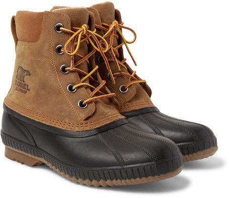 Sorel Cheyanne Ii Waterproof Suede And Rubber Duck Boots