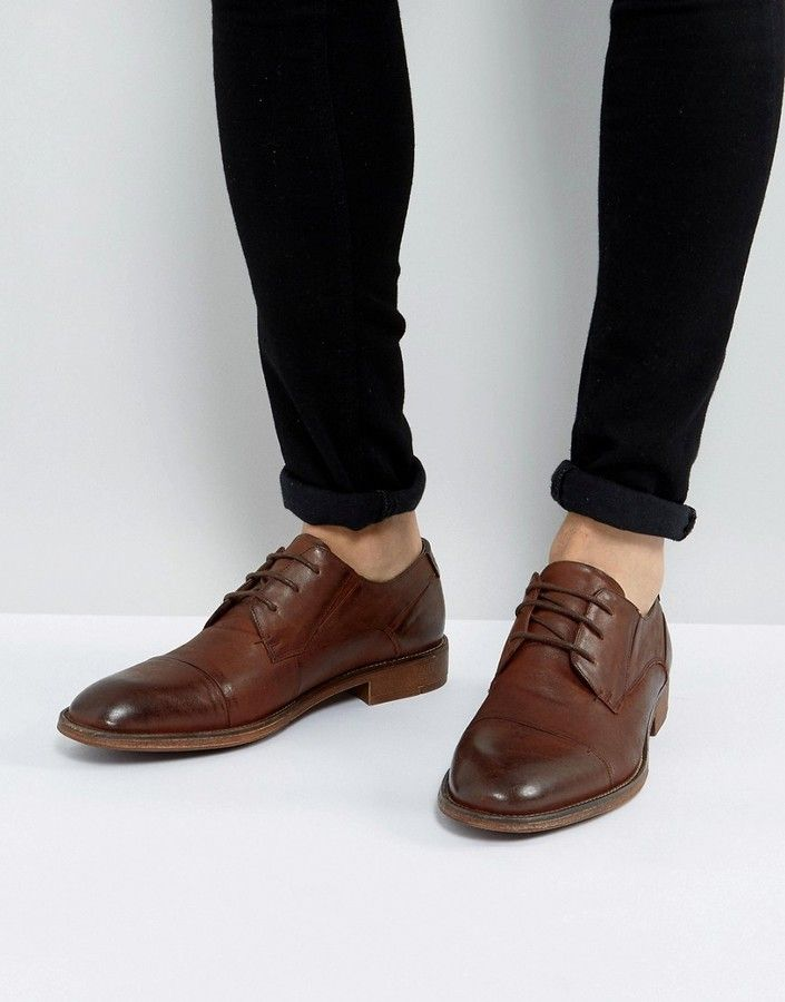 Steve Madden Qhamtim Leather Shoes In Tan