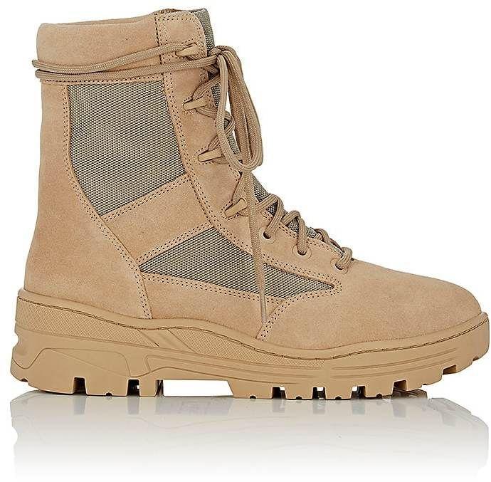 Yeezy Men's Suede & Canvas Combat Boots...