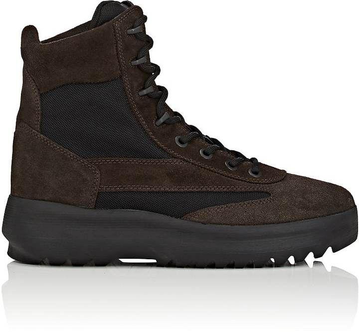 Yeezy Men's Suede & Nylon Military Boots