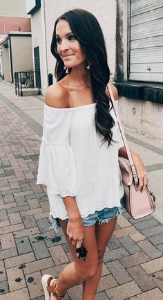 Off-the-shoulder top...