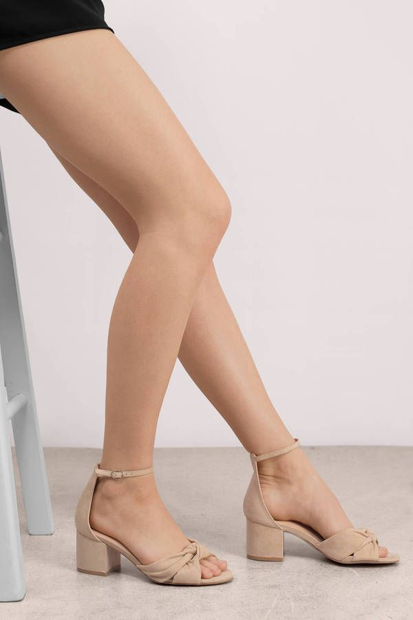 Larina Knotted Ankle Strap Heel