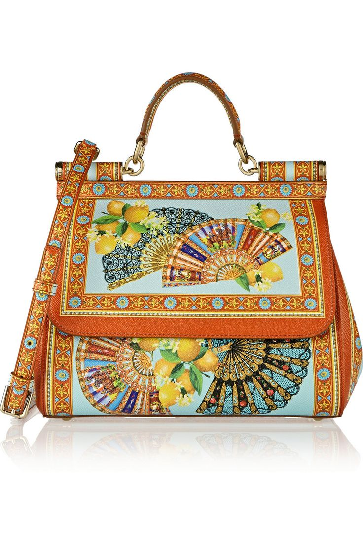 Dolce & Gabbana|Sicily printed textured-leather tote|NET-A-PORTER.COM $2...