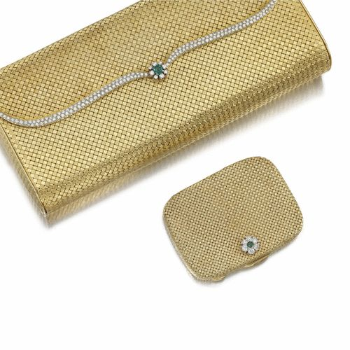EMERALD AND DIAMOND COMPACT AND EVENING BAG 1960s | lot | Sotheby's...