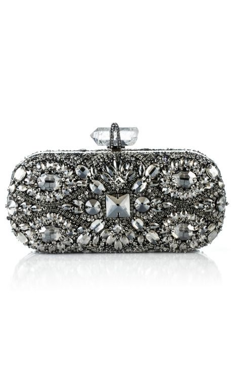 Shop Lily Embroidered Clutch by Marchesa for Preorder on Moda Operandi
