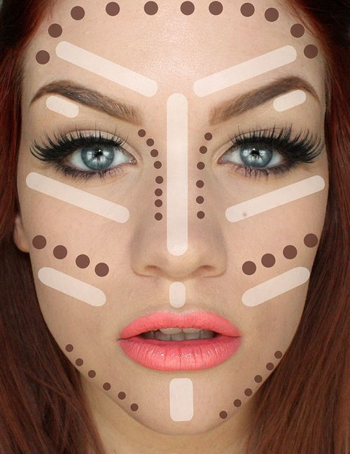 How To Make Your Face Thinner With Makeup   Highlighting and Contouring Tips and...