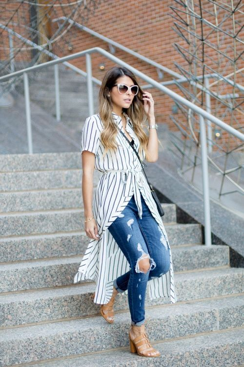 9ff3c0aa0f Trendy Ideas For Summer Outfits   street style    striped shirt ...