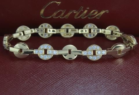 $18,000 Cartier Himalia 18K Yellow Gold 1.69ct Round Diamond 7'' Circl...
