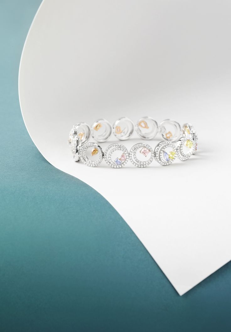 Boodles Finely Coloured - the 'Swirl' bracelet featuring a collection of...