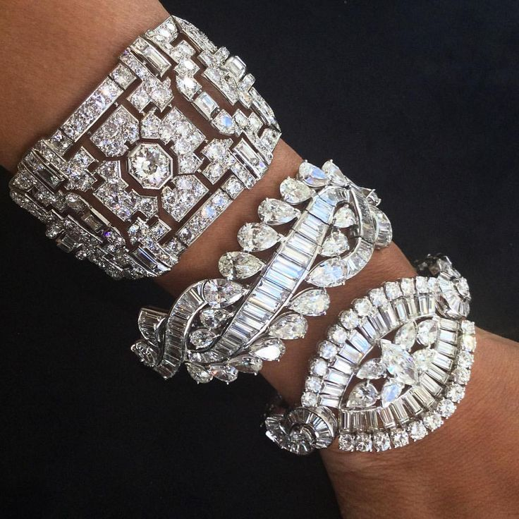 Diamond bracelets! Too much of a good thing is wonderful