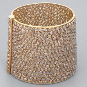 Victorian Rose Diamond Bangle Bracelet
