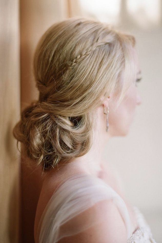 Featured Photographer: Elizabeth Messina; Wedding hairstyle idea.