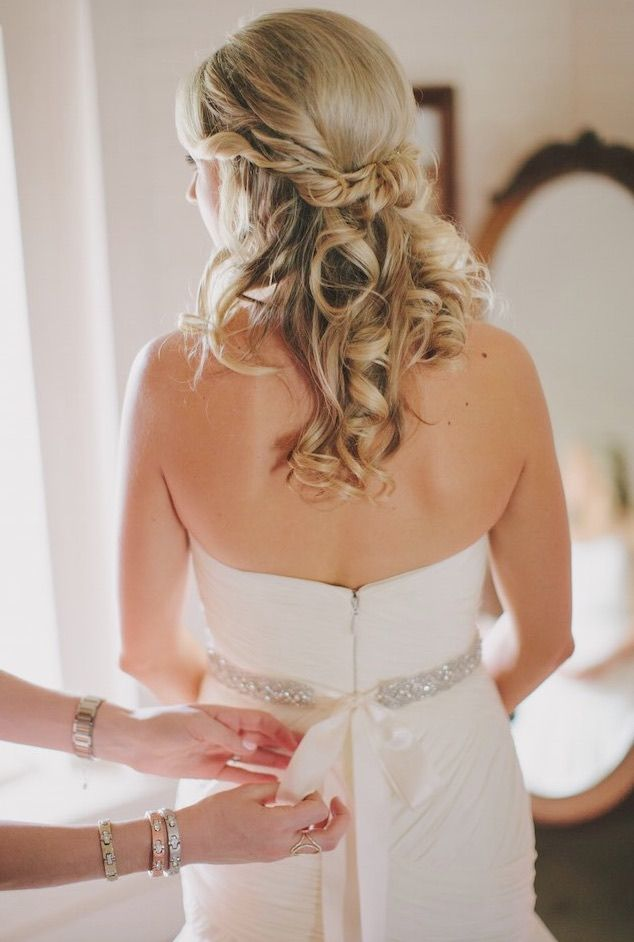 Featured Photographer: Jake and Necia Photography; Wedding hairstyle idea.