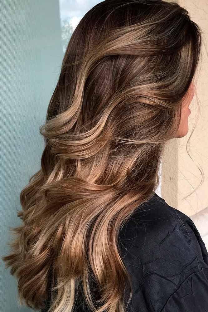 Long Hair Women S Styles Highlights For Dark Brown Hair