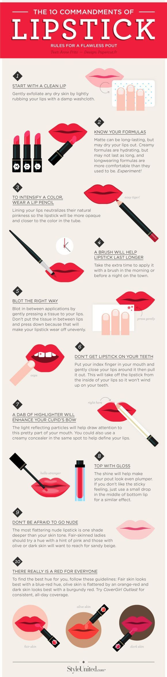10 Clever Lipstick Tips For A Flawless Pout | DIY Lipstick Hacks by Makeup Tutor...
