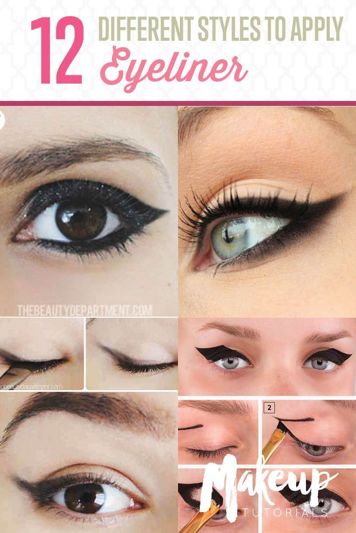12 Different Eyeliner Tutorials You'll Be Thankful For | Makeup Tips & Tricks ...