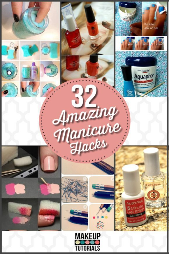32 Amazing Manicure Hacks | DIY Nail Polish Tricks by Makeup Tutorials makeuptut...