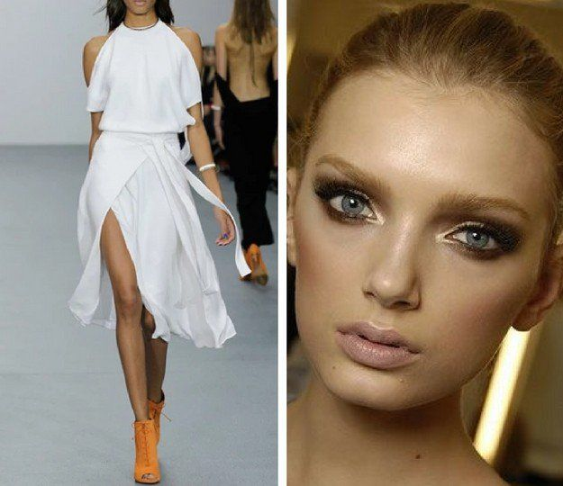 Crisp White and Bronze Eyes | Exciting Summer Outfits To Go With Your Makeup | F...