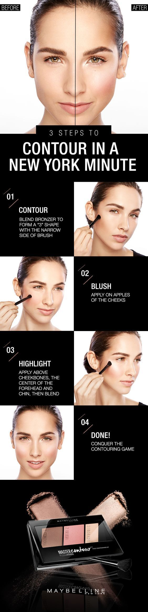 Easy Contouring Tutorial For Busy Ladies | Quick And Easy Makeup Tips And Tricks...