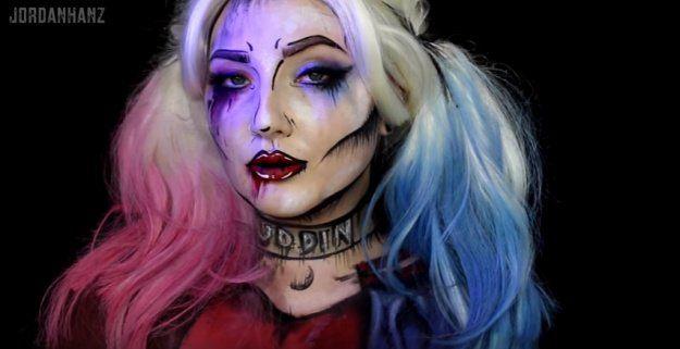 Harley Quinn Makeup Tutorial | Amazing Female Superhero Makeup Tutorials | Costu...