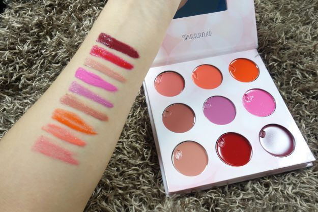 Lip Swatches | BH Cosmetics Shaaanxo Palette Makeup Review