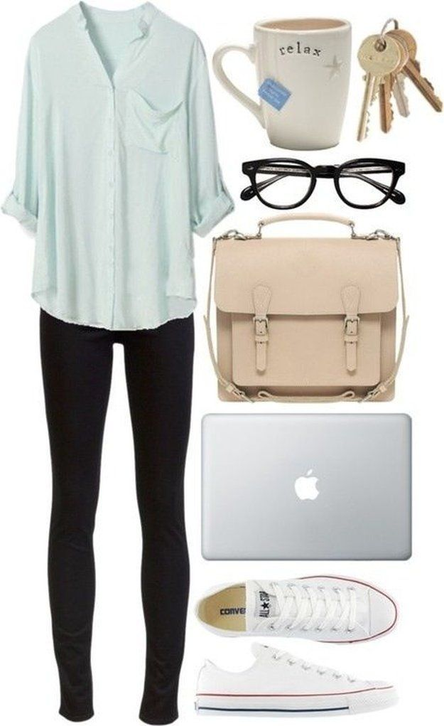 Cute College Outfit ideas To Match Your Natural Makeup