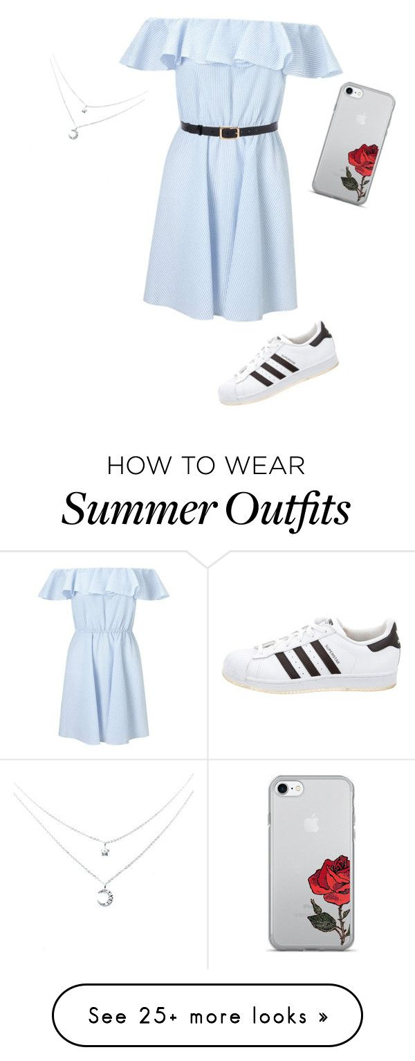 """58baa0e905 """"cute summer outfit """" by mayburygeorgia on Polyvore featuring Miss Selfridge  and adidas"""