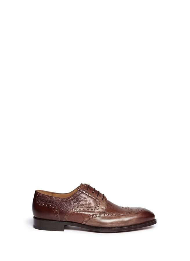 $510, Full Brogue Leather Derbies by Magnanni. Sold by Lane Crawford. Click for ...