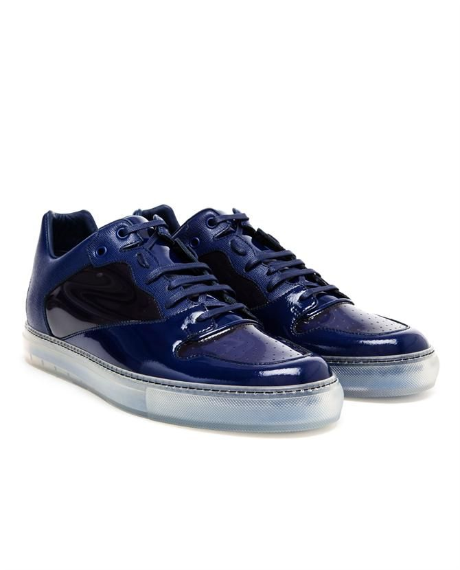 BALENCIAGA | Contrasting Leather and Transparent Trainers