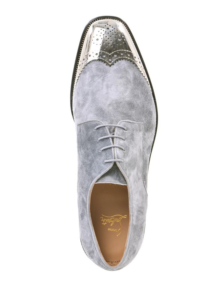 CHRISTIAN LOUBOUTIN Gareth metal-capped suede shoes