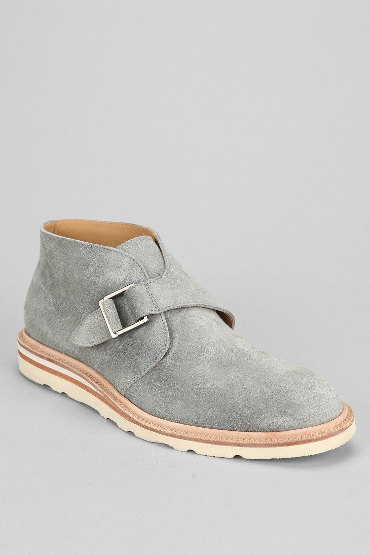 the best men 39 s shoes and footwear cole haan wedge monk strap chukka boot in grey suede with. Black Bedroom Furniture Sets. Home Design Ideas