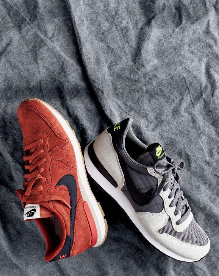 J.Crew men's Nike® Internationalist suede sneakers and Nike® Internationalis...