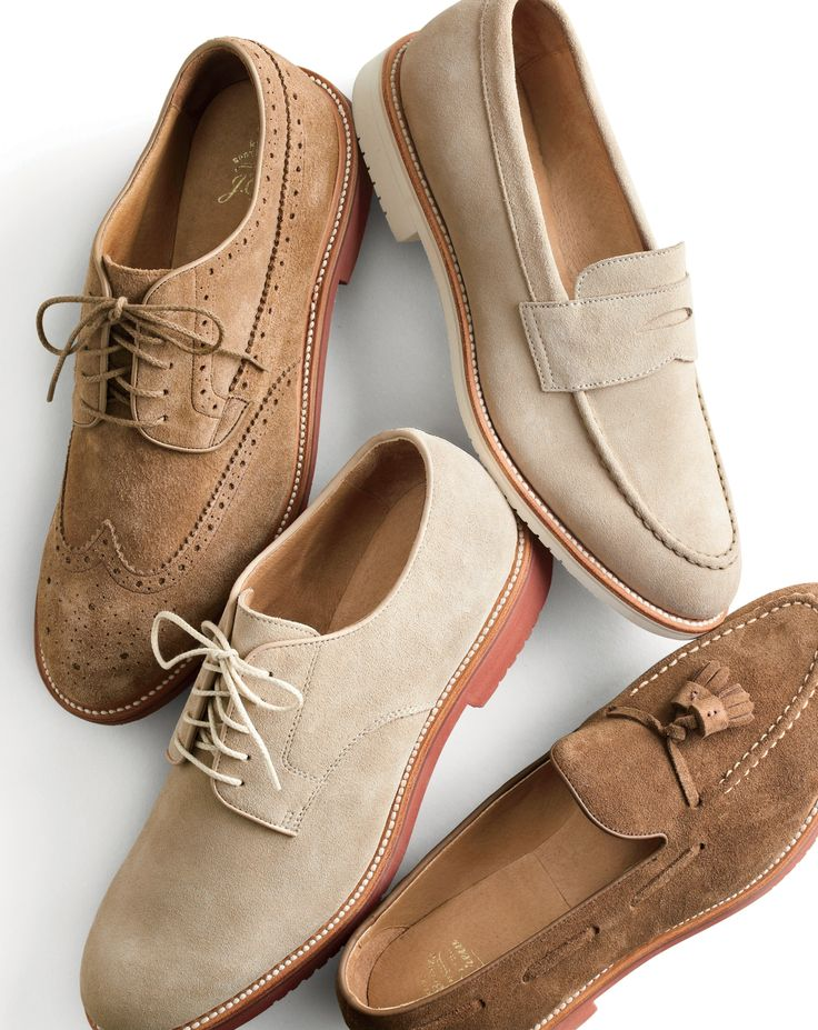 J.Crew men's wing tip, penny loafer with white sole, buck and tassel loafer Kent...