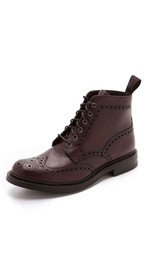 Loake 1880 | Bedale Heavy Brogue Boots #loake1880 #heavy #brogue #boots
