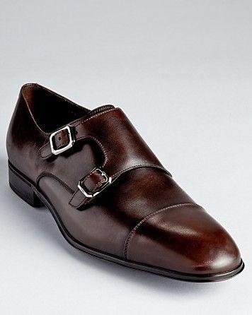 Salvatore Ferragamo Addo Double Monkstrap Dress Shoes - All Shoes - Shoes - Men&...
